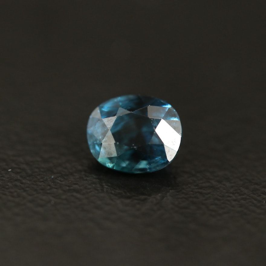 Loose 1.16 CT Oval Faceted Sapphire with GIA Report