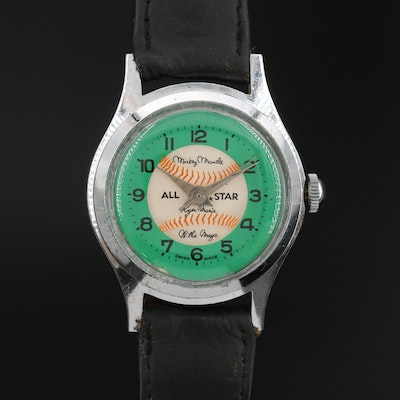 Vintage Mantle, Maris and Mays Baseball All Stars Wristwatch