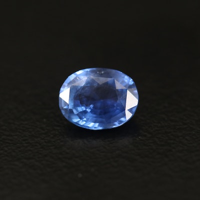 Loose 1.33 CT Unheated Sri Lankan Sapphire with GIA Report