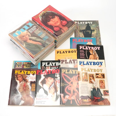 Playboy Magazine Collection, Mid to Late 20th Century, also Maxim, Oui, and More