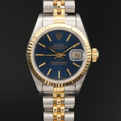 1991 Rolex Datejust 18K Gold and Stainless Steel Automatic Wristwatch