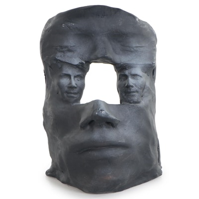 Sean Corner Terracotta Sculpture of Surreal Portrait, 2006