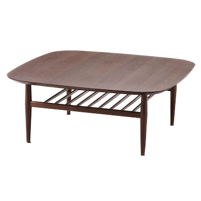 "Article ""Lenia"" Mid Century Modern Style Walnut Veneer Coffee Table"