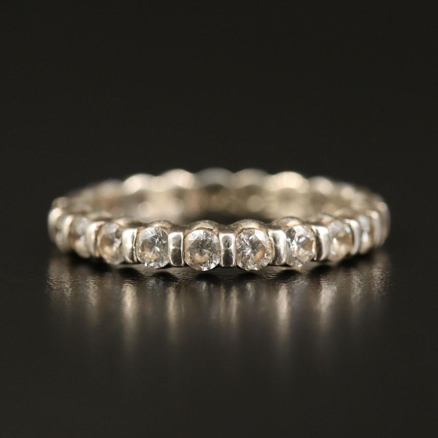 Sterling Cubic Zirconia Eternity Ring