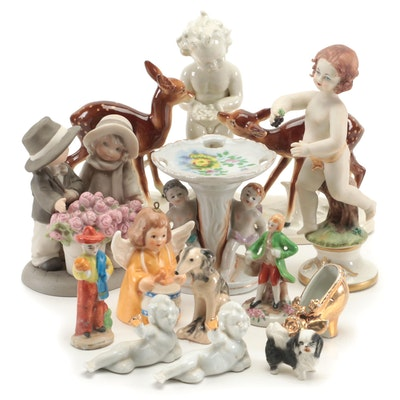 Porcelain Figurines Including Capodimonte, Goebel and More