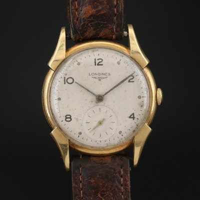 1997 Longines 18K Yellow Gold Stem Wind Wristwatch