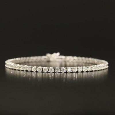Sterling Cubic Zirconia Line Bracelet