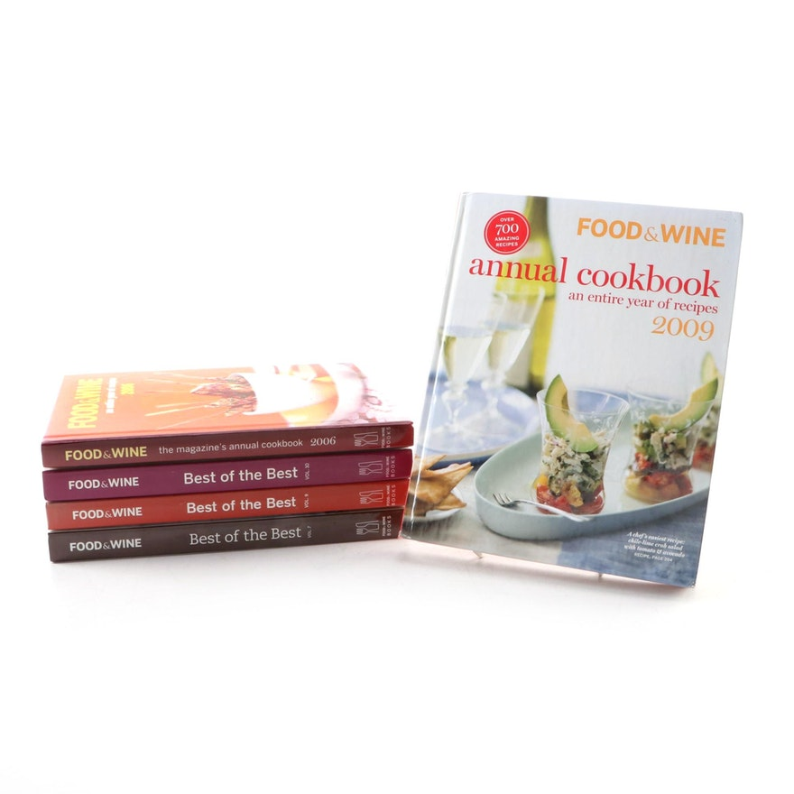 """""""Food and Wine"""" Cookbook Collection Including """"Best of the Best"""""""