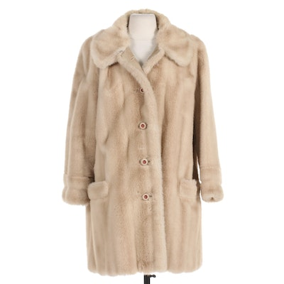 Tissavel Faux Fur Button-Front Coat, Made in France