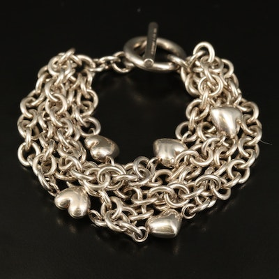 Tiffany & Co. Sterling Heart Multi-Strand Bracelet