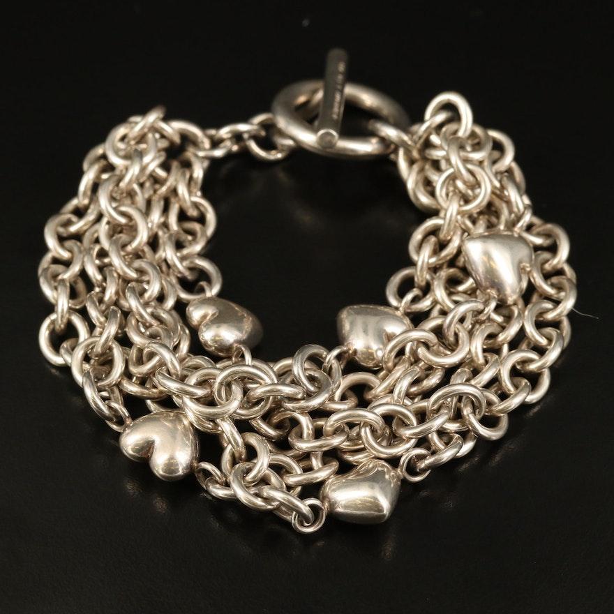 Tiffany & Co. Sterling Heart Multi-Strand Bracelet
