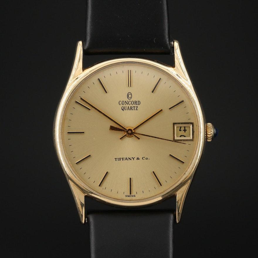 Vintage Concord for Tiffany & Co. 14K Gold Quartz Wristwatch