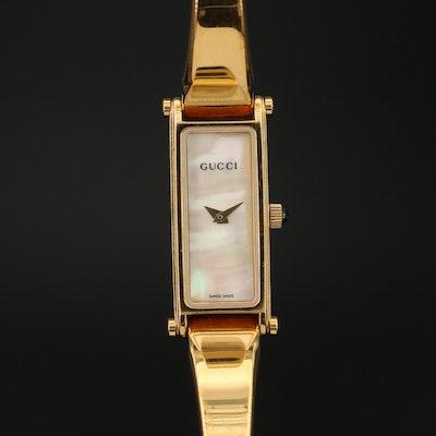 Gucci 1500L Horsebit Gold Tone Stainless Steel Wristwatch