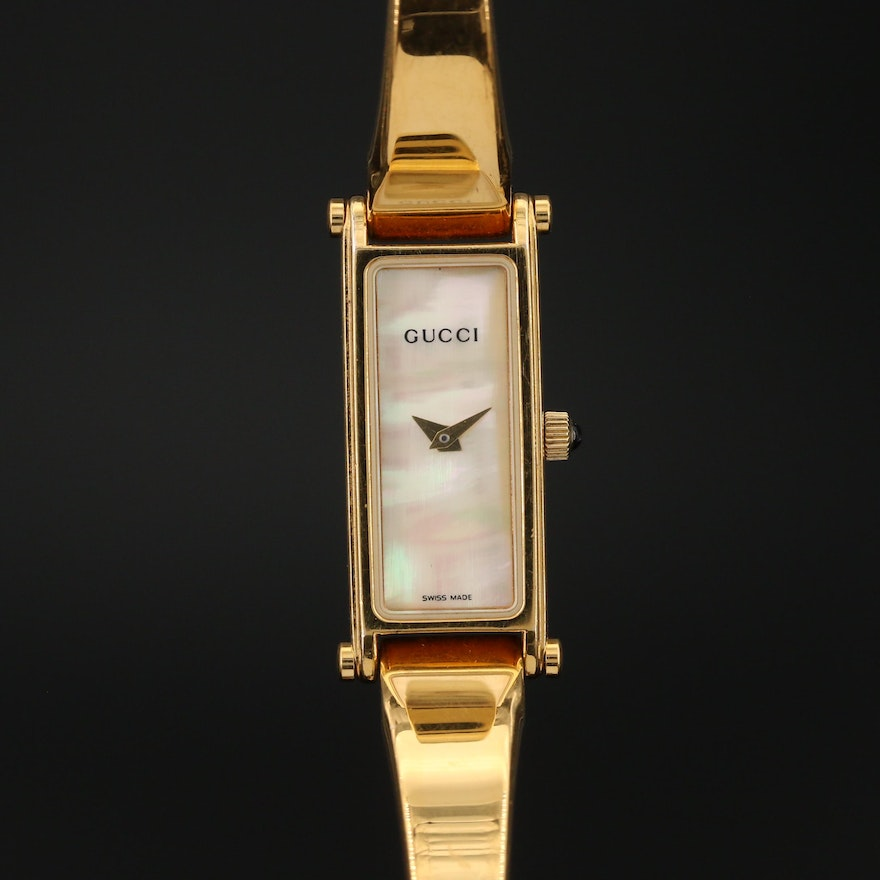 Gucci 1500L Horsebit Gold Tone Stainless Steel Wristwatch