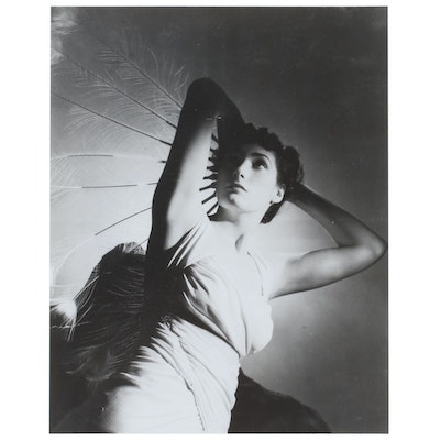 George Platt Lynes C-Print of Woman with Feathers, Late 20th Century