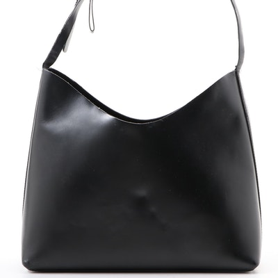 Modified Gucci Hobo Bag with Zipper Pouch in Black Calfskin Leather