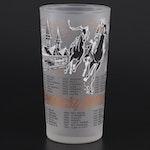 Kentucky Derby Frosted Glass Julep Glass, 1960