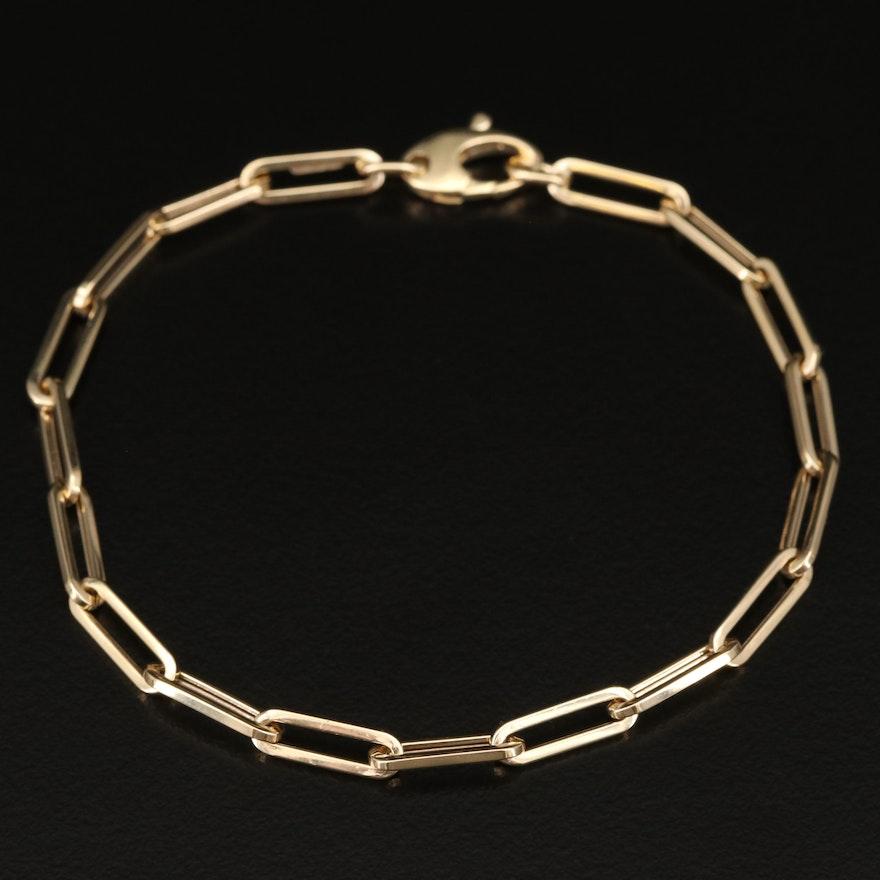 14K Cable Chain Bracelet