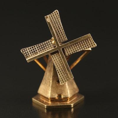 14K Articulating Windmill Pendant