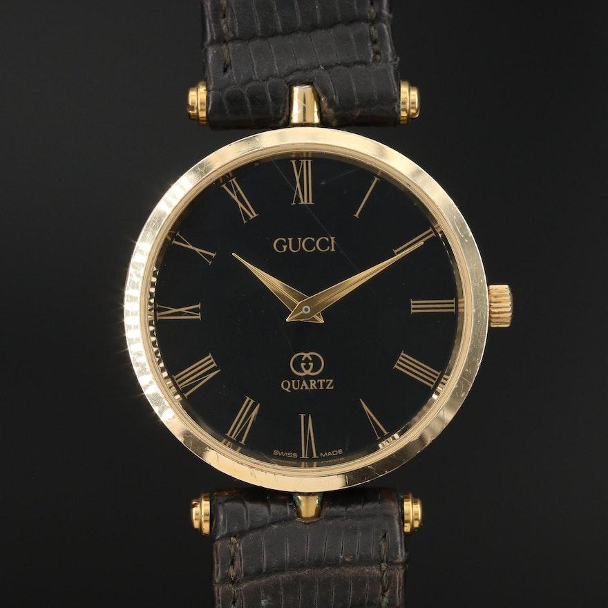 Vintage Gucci 2000M Enamel and Gold Tone Quartz Wristwatch
