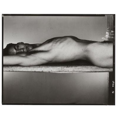 George Platt Lynes Silver Gelatin Print of Reclining Male Nude
