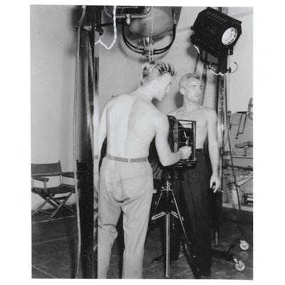 """George P. Lynes & Assistant"" Silverprint Photograph"