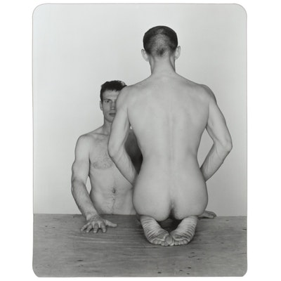 "George Platt Lynes Silver Gelatin Print ""Mel Fellini and Teodor Starkowski"""