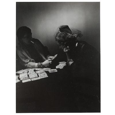 George Platt Lynes Reprinted Silver Gelatin Photograph of Card Game