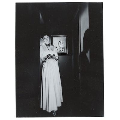 George Platt Lynes Reprinted Silver Getain Photograph of Woman in Corridor