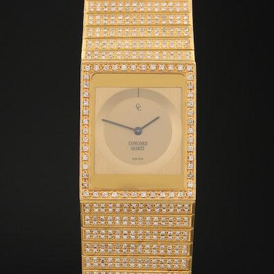 Vintage Concord Delirium 6.00 CTW Diamond and 18K Gold Quartz Wristwatch