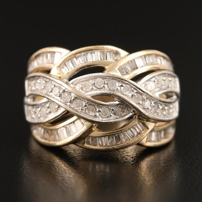 10K 1.02 CTW Diamond Braided Pattern Band