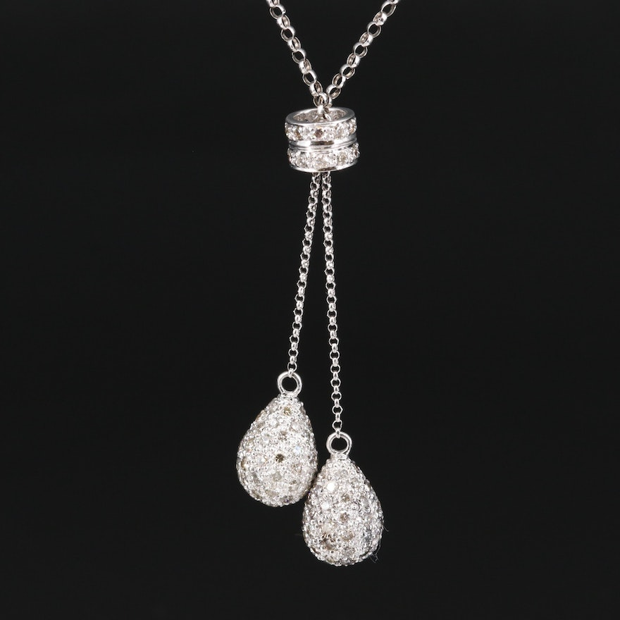 14K 2.73 CTW Diamond Negligee Necklace