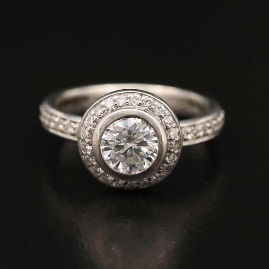 Platinum 1.55 CTW Diamond Ring