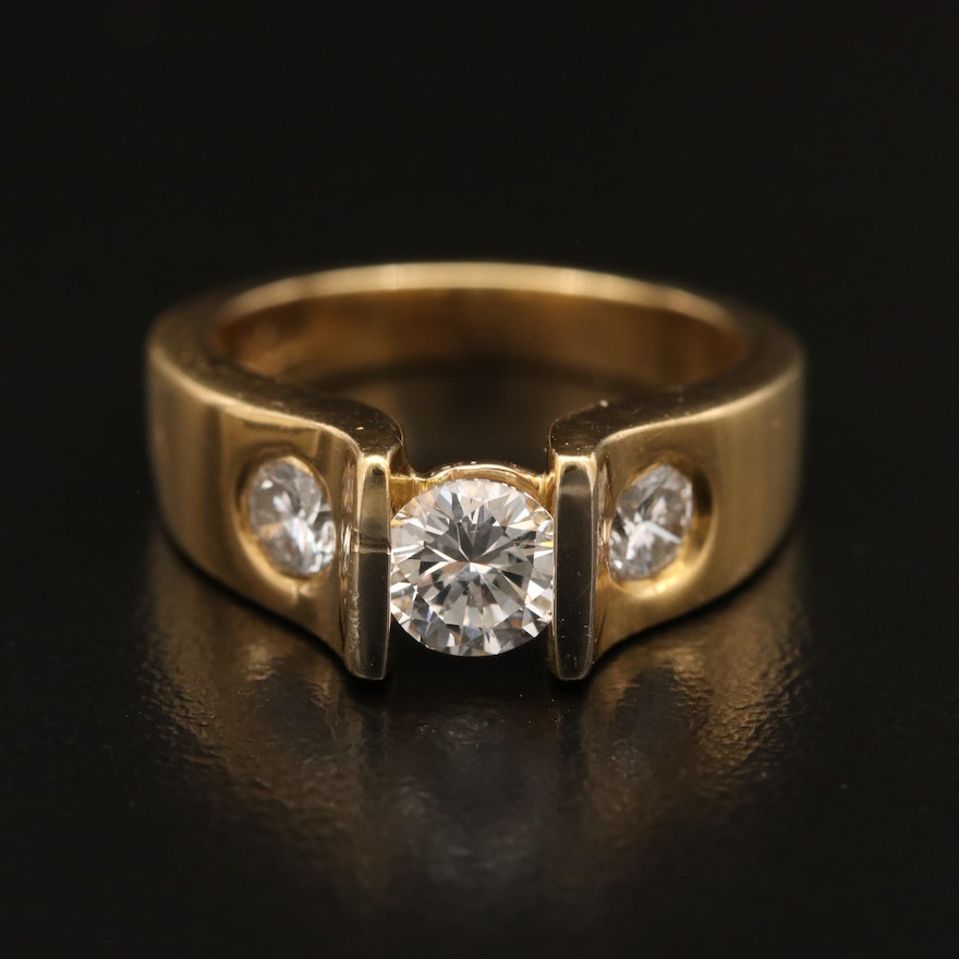 Thomas Michaels 18K 1.13 CTW Diamond Ring