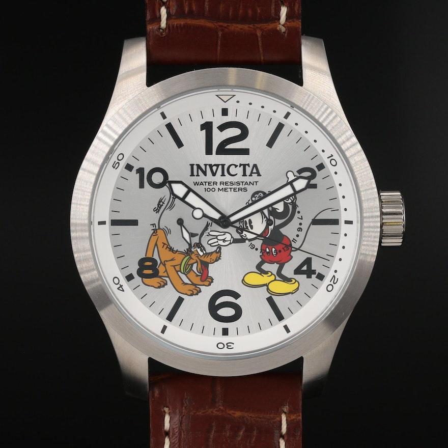 Disney Limited Edition Mickey/Pluto Stainless Steel Quartz Wristwatch