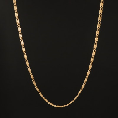 14K Snail Chain Necklace