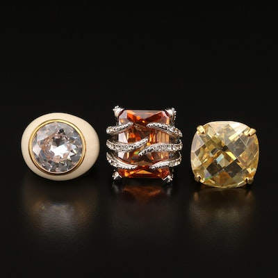 Cubic Zirconia and Foilback Ring Assortment