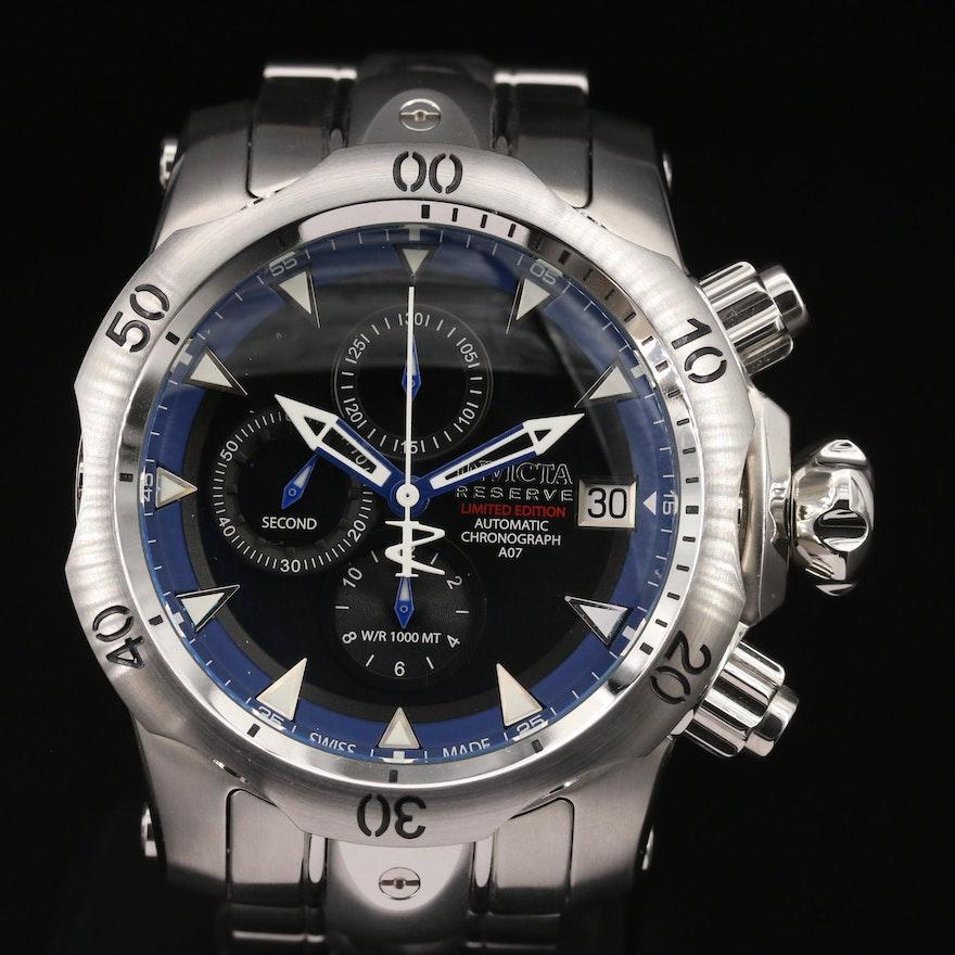 Invicta Reserve Venom Chronograph Stainless Steel Automatic Wristwatch