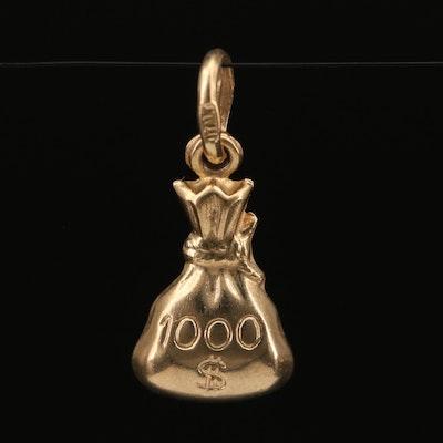 14K $1000 Money Bag Pendant