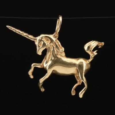 14K Unicorn Pendant