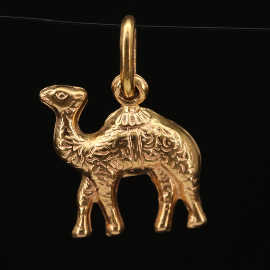 18K Camel Pendant