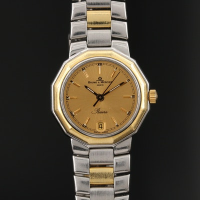 Baume & Mercier Riviera 18K and Stainless Steel Quartz Wristwatch