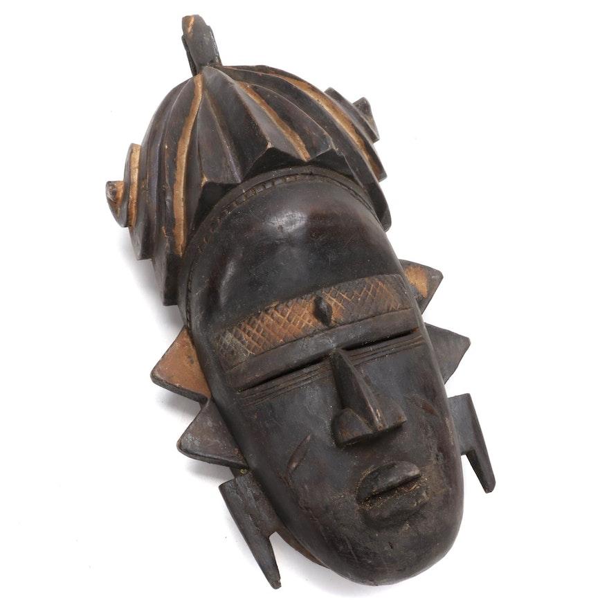 Senufo Inspired Wooden Mask, West Africa