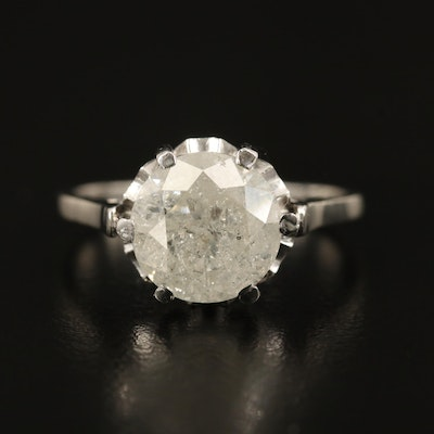 Platinum 3.00 CT Diamond Solitaire Ring