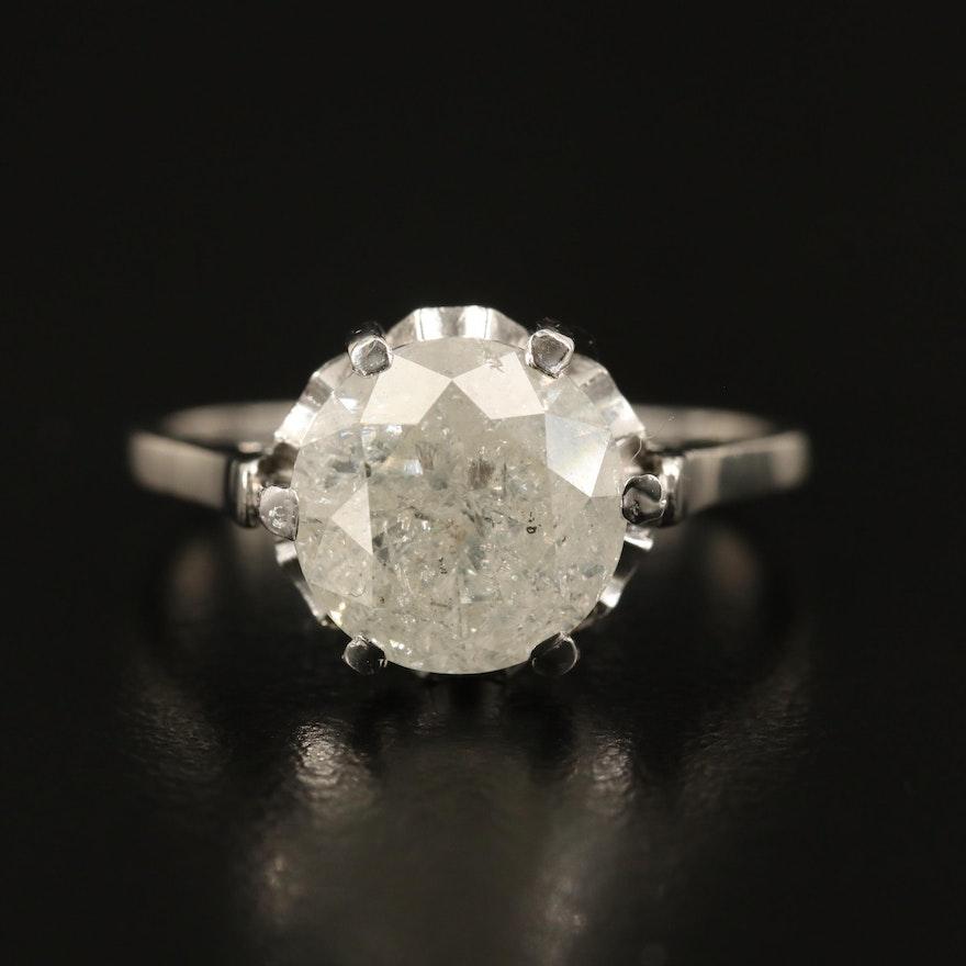Platinum 3.00 CT Diamond Solitaire Ring