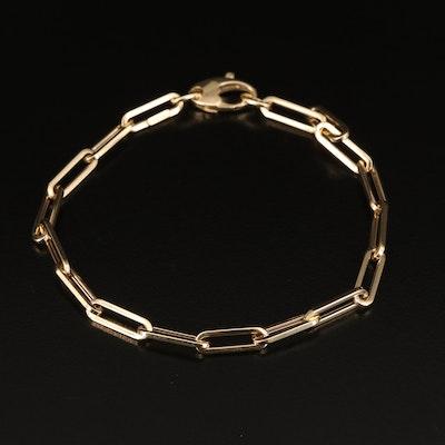 14K Oval Cable Link Bracelet