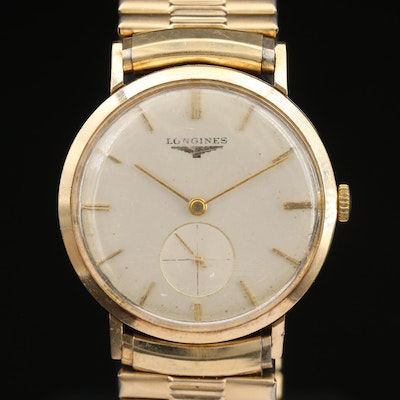 1956 Longines 10K Gold Filled Stem Wind Wristwatch
