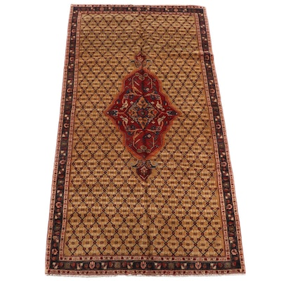 5'2 x 10'5 Hand-Knotted Persian Veramin Wool Rug