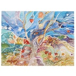 """Sheila Bonser Watercolor Painting """"Crazy Tree,"""" 21st Century"""