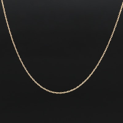 18K Singapore Chain Link Necklace